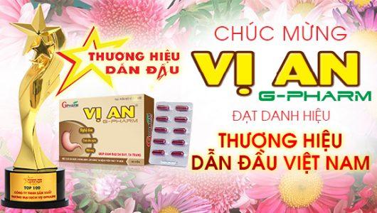 Vị An G-Pharm được vinh danh Top 100 Thương hiệu dẫn đầu Việt Nam